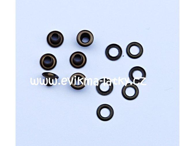 Průchodky mosazná 5x4x7,5 mm (4)