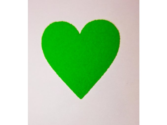 Nažehlovací sametová folie srdce  zelenkavé 3x3cm