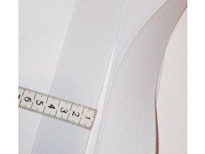Tkaná hladká guma š. 4cm bílá