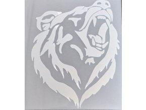 Reflexní nažehlovačka medvědí hlava