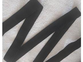 Lesklá lemovací pruženka černá