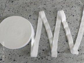 Lesklá lemovací pruženka bílá