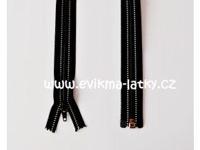 zip černý reflexní 65cm dělitelný