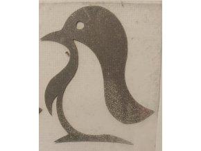 Reflexní nažehlovačka tučňák 1
