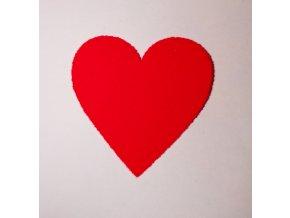 Nažehlovací sametová folie srdce  oranžové 3x3cm
