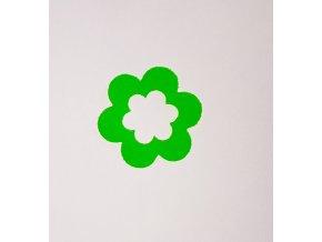 Nažehlovací sametová folie kytička zelenkavá 2